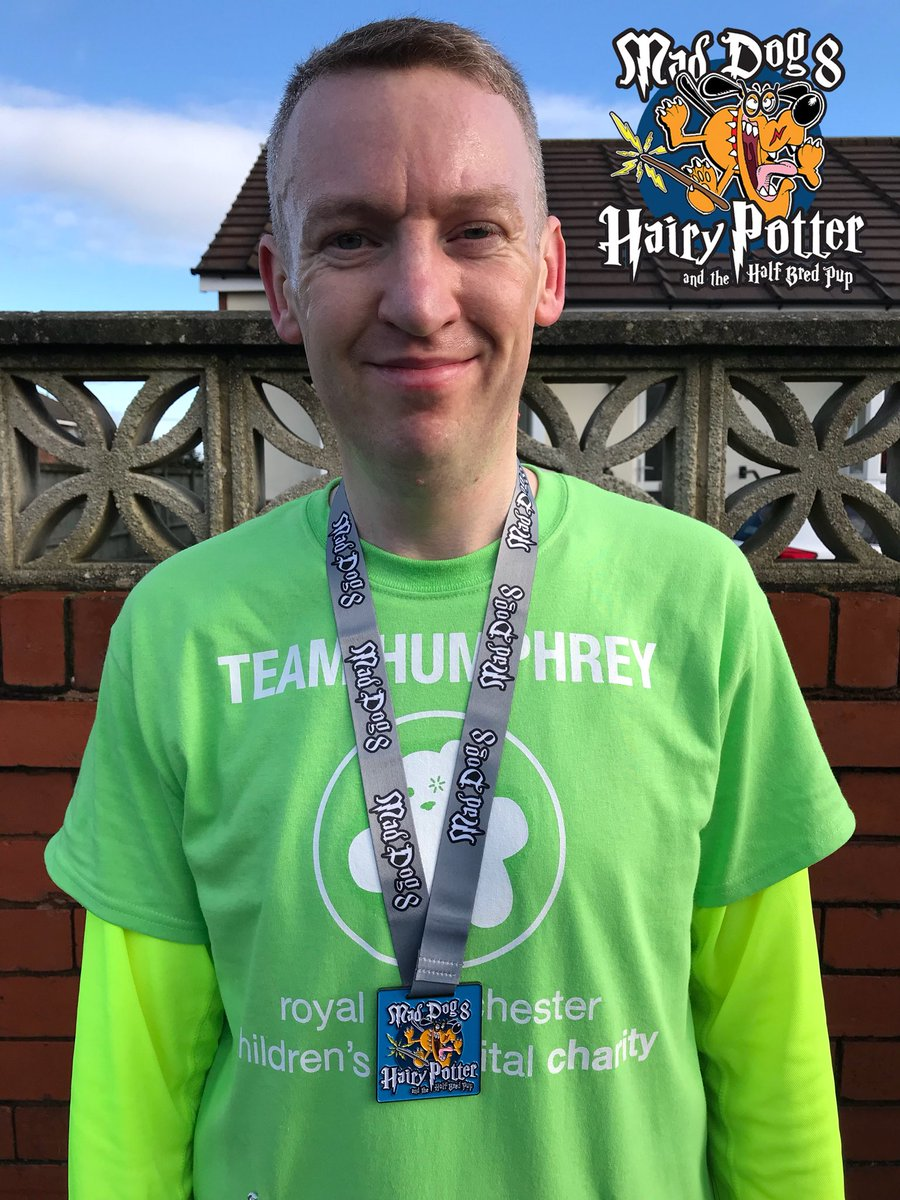 💚🏃‍♂️@maddog10k & challenge 6 #IMOAC DONE!!!  Unofficial 10K PB, just waiting on official chip time to come in.  🤞🐶 @UKRunChat @RMCHcharity #maddog10k #UKRunChat