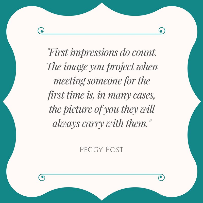 Emily Post Institute On Twitter First Impressions Do Count The