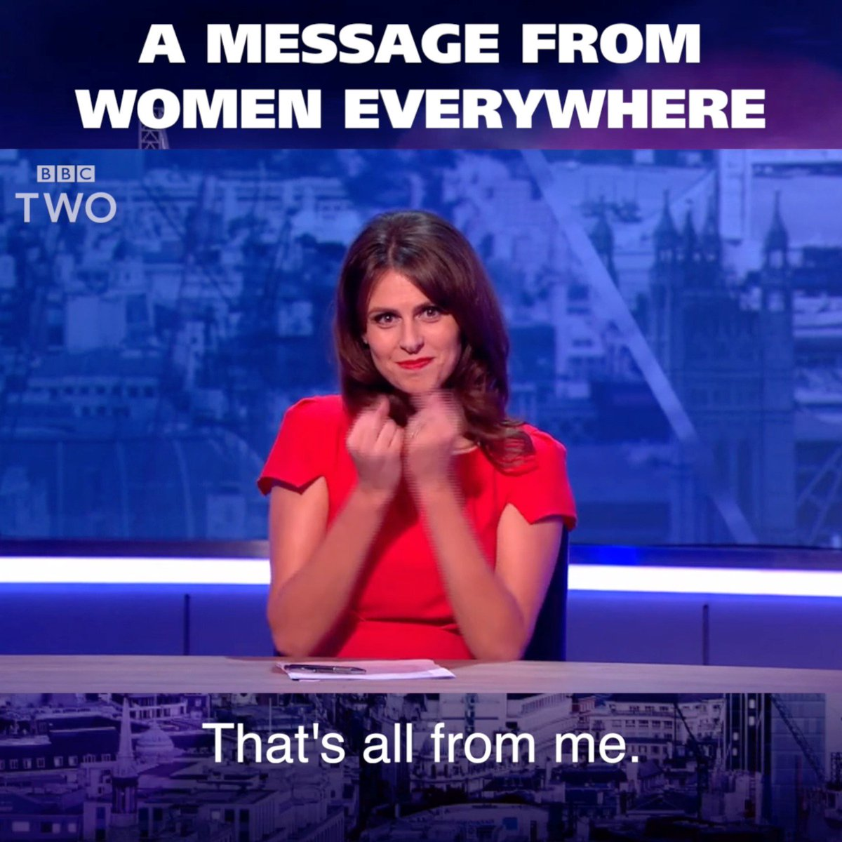 A simple message to the world from every woman ever... 👊  #TheMashReport @EllieJaneTaylor