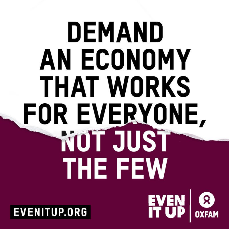 Demand governments and big businesses do things differently: https://t.co/Hz1sJnt201  #FightInequality #EvenItUp