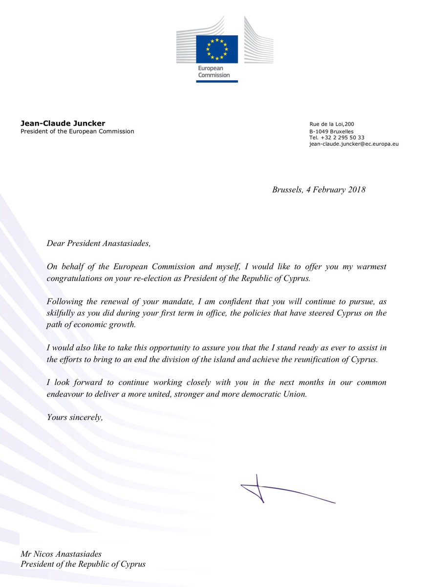 Jean claude juncker on twitter congratulations anastasiadescy on i look forward to continue working closely with you in the next months in our common endeavour to deliver a more united stronger and more democratic union thecheapjerseys Choice Image