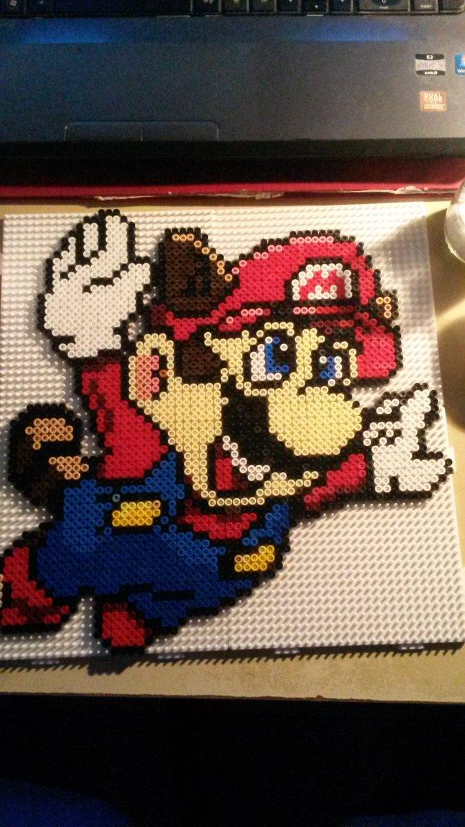 Teddybeads On Twitter Pixel Nintendo Supermario Mariobros Art