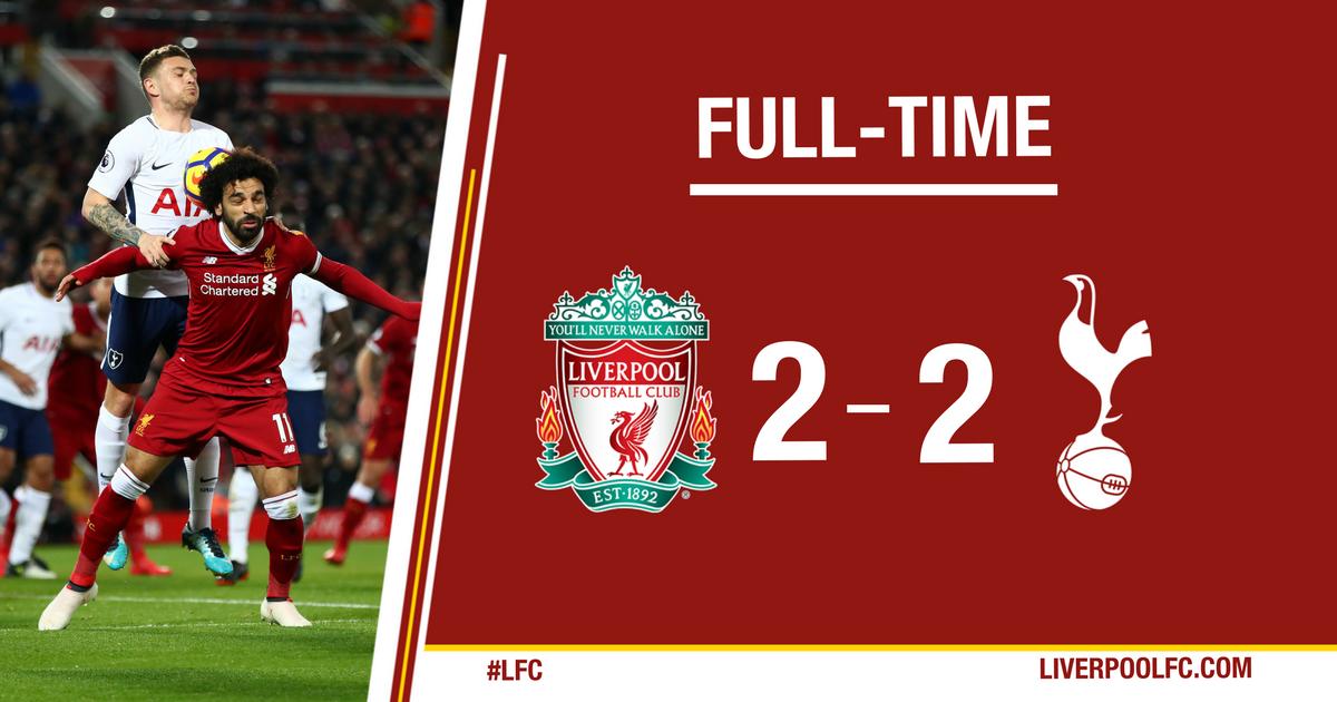 Chấm điểm kết quả Liverpool 2-2 Tottenham