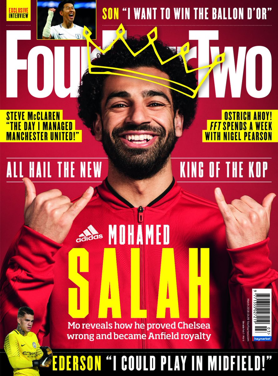 fourfourtwo on twitter all hail the new king of the kop 22mosalah is this month 39 s cover. Black Bedroom Furniture Sets. Home Design Ideas