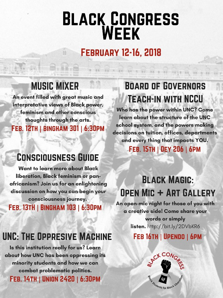 UNC Black Congress on Twitter: