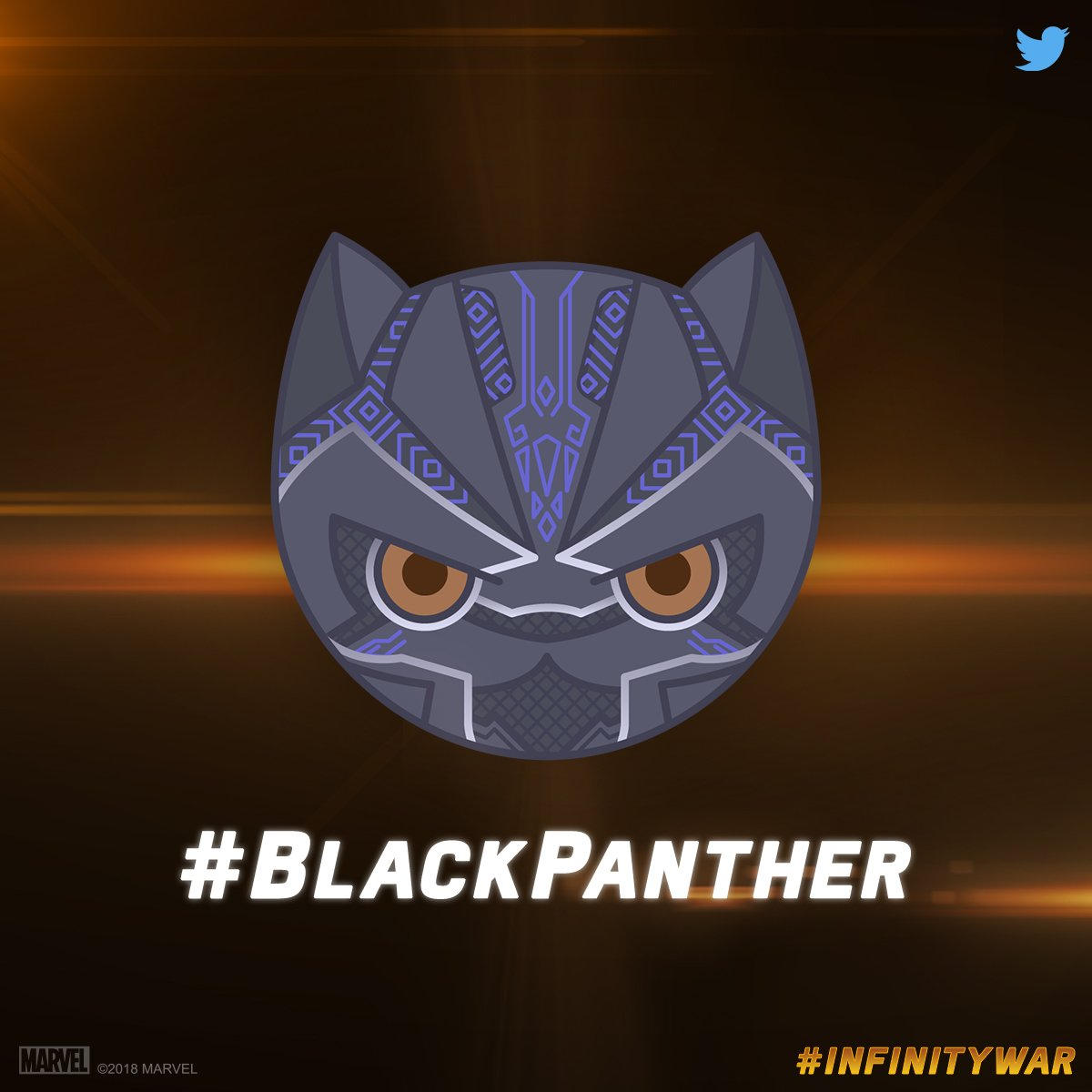 Chadwick Boseman On Twitter Introducing This Guy To The World The New Blackpanther Twitter Emoji Has Officially Arrived Infinitywar