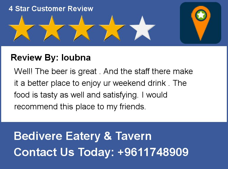 Review By: loubna Well! The beer is great . And the staff there make it a better place to enjoy ur weekend drink . https://t.co/XXBoJZldzj