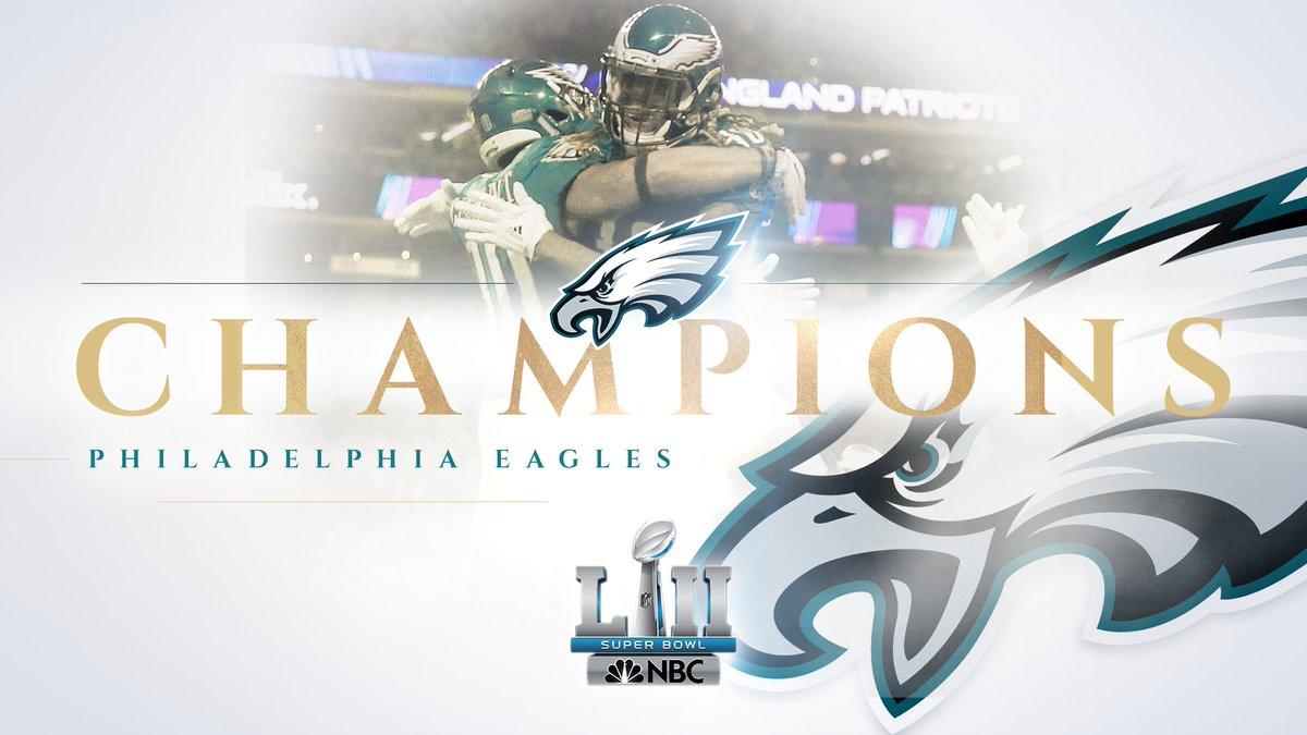 The Philadelphia Eagles are  SuperBowl Champions!pic.twitter.com j2imkIWkTW a6e3401fe