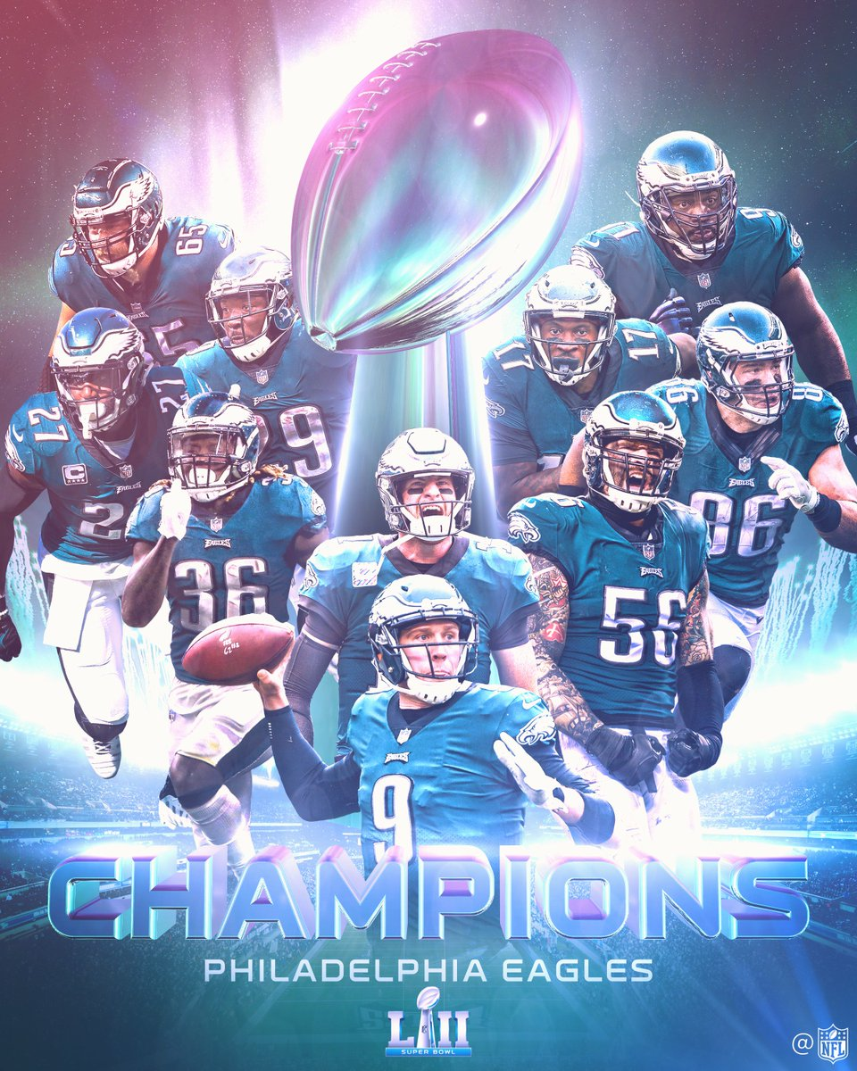 THE @EAGLES ARE SUPER BOWL CHAMPIONS! #SBLII