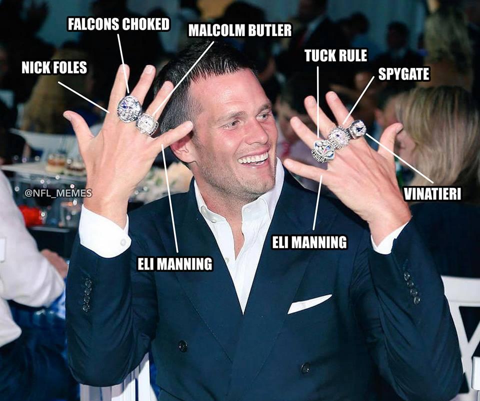 Nfl Memes On Twitter Updated Tom Brady Ring Breakdown