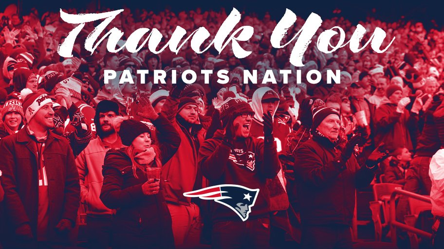 Not the outcome we wanted, but proud to play for you #PatriotsNation. Thanks for your support all season long.