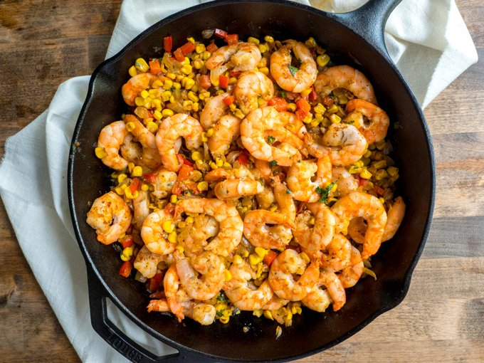 Mexican Roasted Shrimp With Corn Salsa