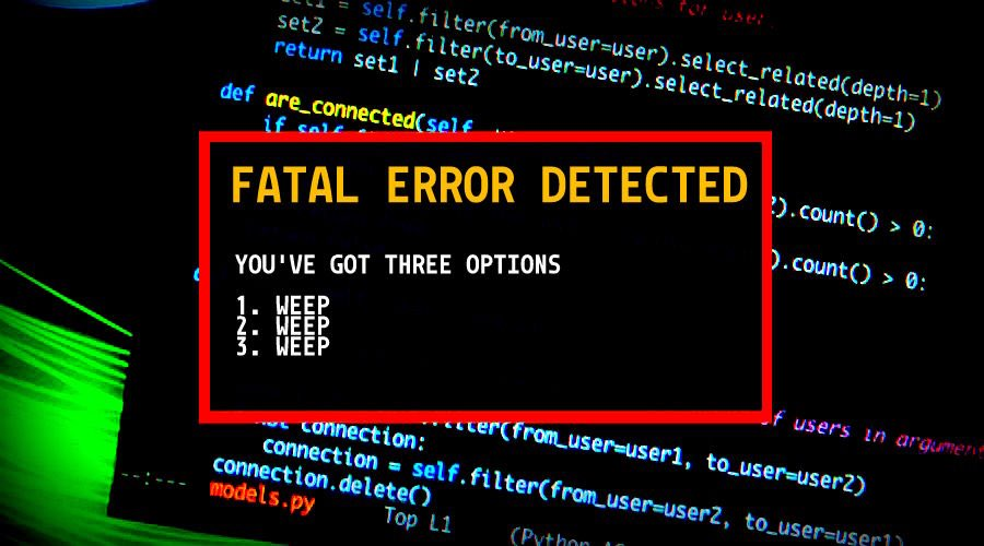 Error in execution? Don't be surprised, it was programmed this way.;)  Raise your skills #Coding #Code #CodeError #Programming #ProgrammingError #Tech #DigitalSkills #SkillsGap