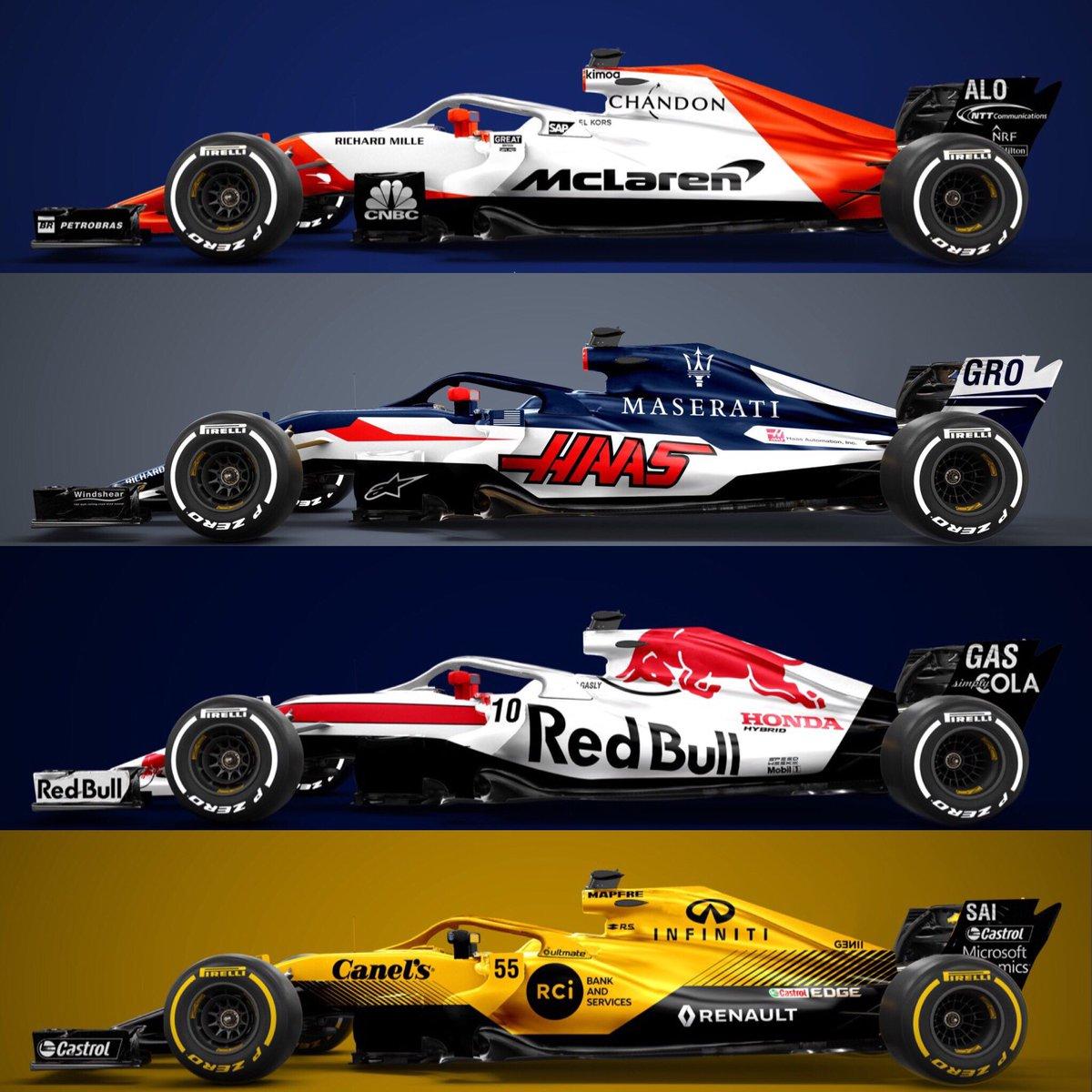 Sean Bull Design On Twitter Recent Vote Winning F1 2018 Liveries
