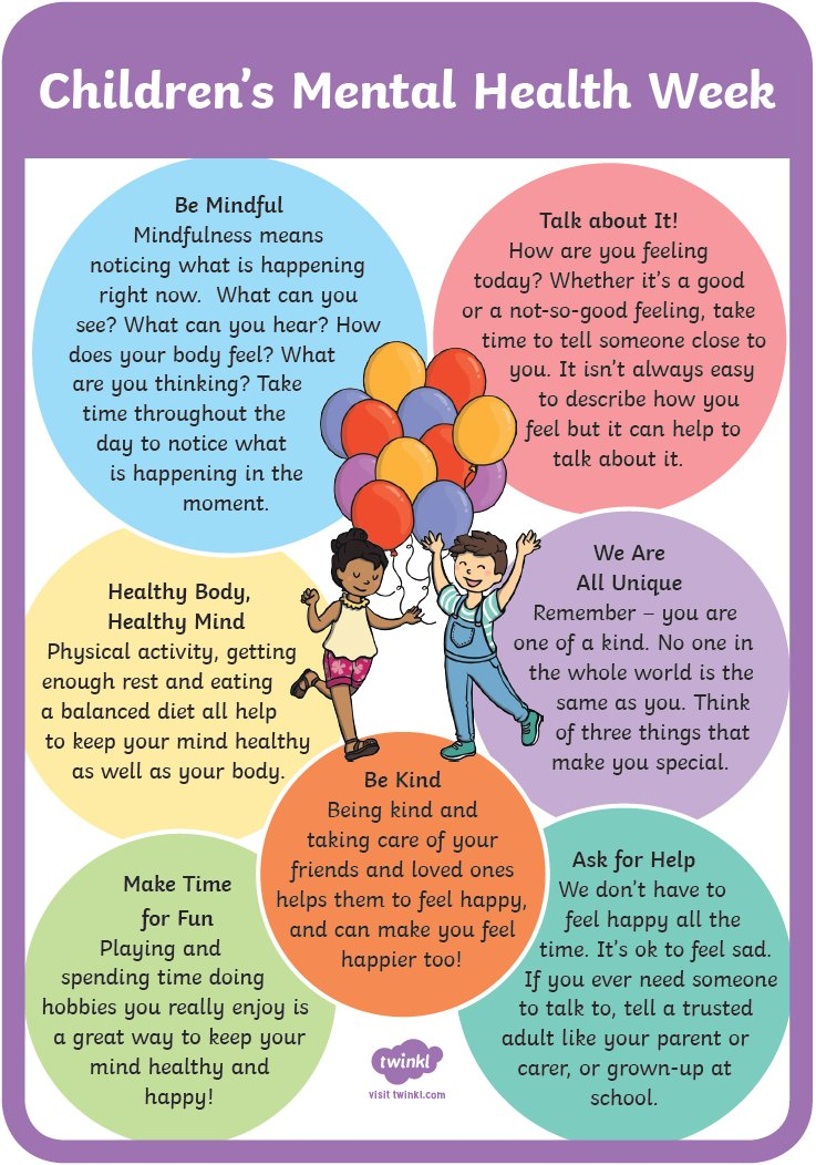 "Cranfield Academy on Twitter: ""Good morning! It is the UK Children's Mental  Health Week today. As part of our work on Pupil Wellbeing, we will be  supporting children's confidence and self-esteem encouraging"