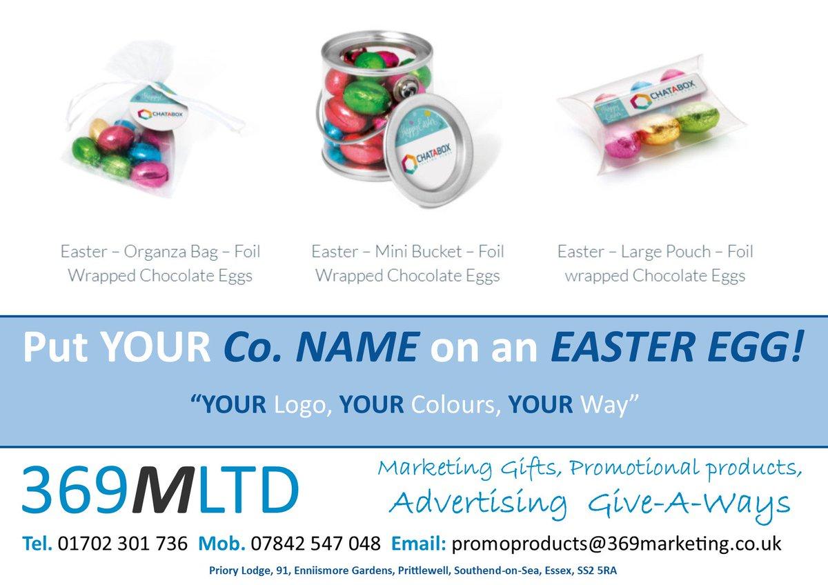 Simon wakefield 369marketing twitter is it easter yet put your company name on an easter egg just giveitaway 369mltd put your name onit promotional marketing products uniform negle Images