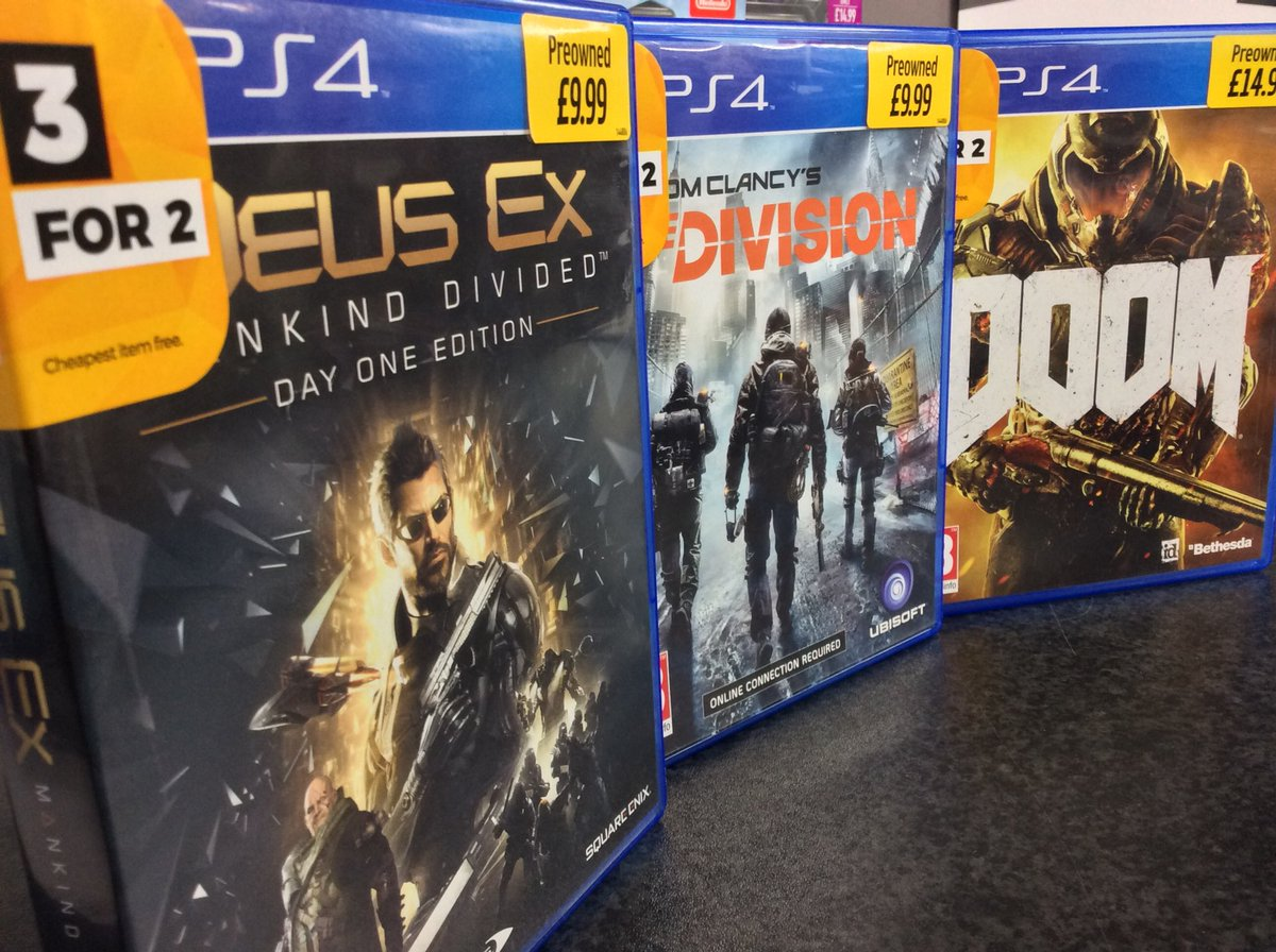 Whether you're playing alone or with friends, fancy a straight up shooter or an in-depth RPG, these top games in 3 for 2 have you covered! https://t.co/bz0HLfHJOX