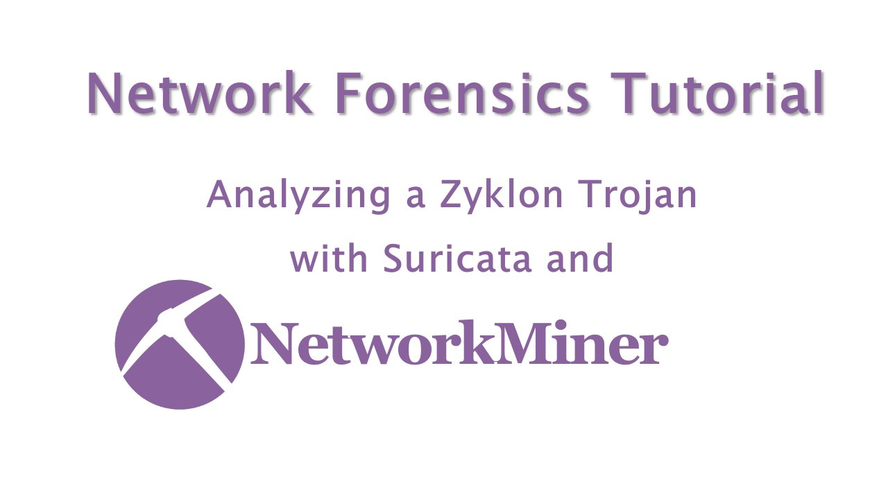 Netresec on twitter network forensics video tutorial analyzing a netresec on twitter network forensics video tutorial analyzing a zyklon trojan pcap from malwaretraffic with suricata and networkminer in securityonion baditri Image collections