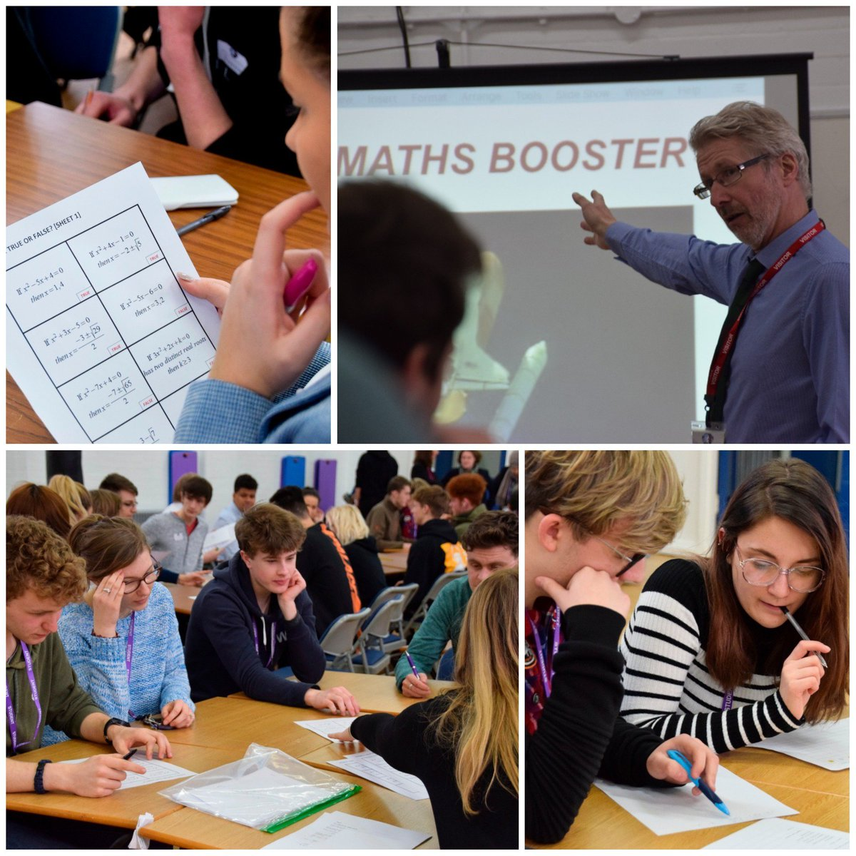 We're hosting a Year 12 Pure #Maths Booster workshop for local schools today @qphschester led by #MartinBamber #furthermaths Programme Leader & #PGCE student helpers from @uochester #support #Alevels @qphs6thform @christofidelis #EPCHS @UCEAcademy @chestertweetsuk @ChesterChron