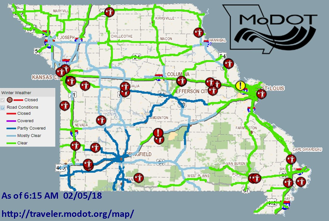 modot southwest (modotsouthwest)  twitter - check httptravelermodotorgmap  or call our customer service hotlineat  for the latest infopictwittercomickaurfqnq