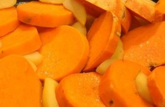 Sweet Potatoes Baked With Apples