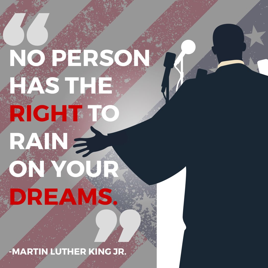 """""""No person has the right to rain on your..."""