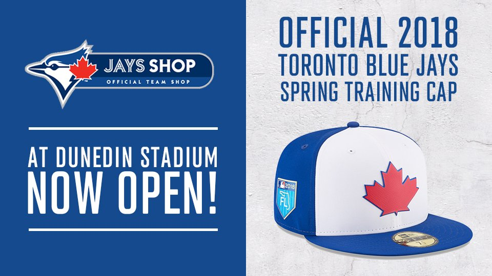 ec0edf05b40cff ... 2018 Official On Field Blue Jays Spring Training Patch Hats in stock!  Out of town? Get yours here: ...