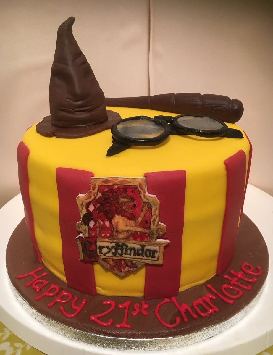 Harry Potter Themed Birthday Cake Harrypotterpictwitter BZBTsY46L2