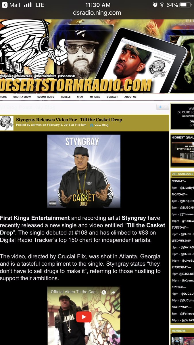 salute to Desert Storm Radio @LiveByTerr...