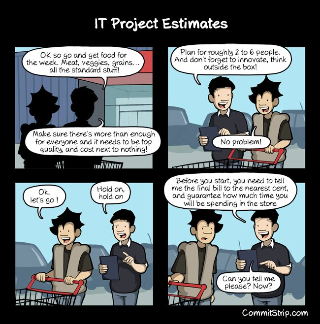 Joke about software estimation