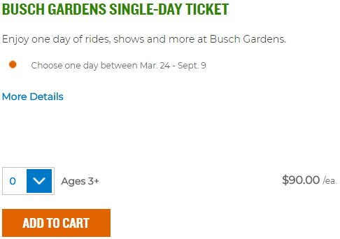 Leaked: A 2018 Single Day Admission To @BuschGardensVA Will Be Priced At  $90u2014the Same Price As A Single Season, Single Park 2018 Fun  Card.pic.twitter.com/ ...