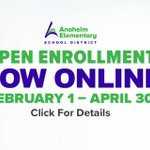 Image for the Tweet beginning: AESD Open Enrollment  Sunkist Elementary