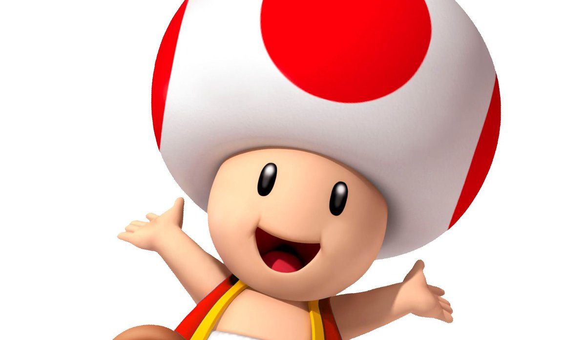 Nintendo confirms that Toad is not wearing a hat. That's his head. https://t.co/zqozWe24BN