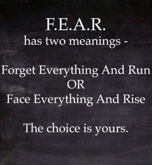 #fear #Meaning #run 🏃 # face #rice #Choice #StayPositive #motivation #LifeLessons #positivelife #inspired #InspirationalQuotes #stayinspired #staystorng #positivenight #goodnight