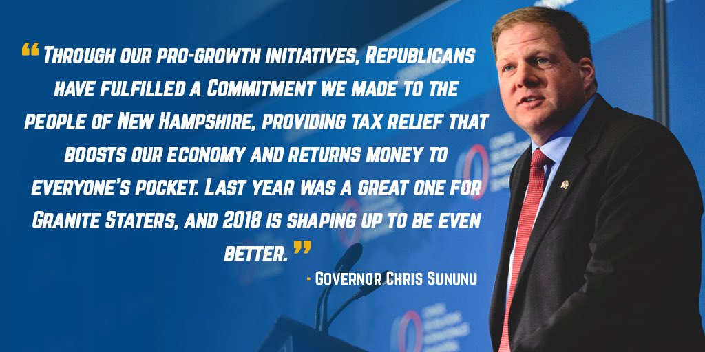 Hasil gambar untuk Gov. Chris Sununu: Tax reform is working for New Hampshire
