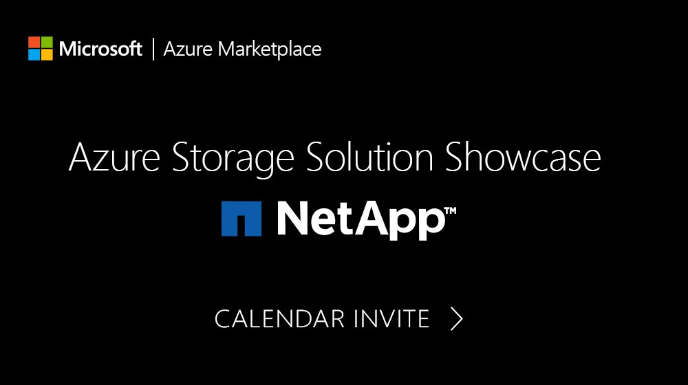 brief presentation live demo and open q a click here for the calendar invite https aka ms storageshowcaseinvite netapp pic twitter com niasjrepd8
