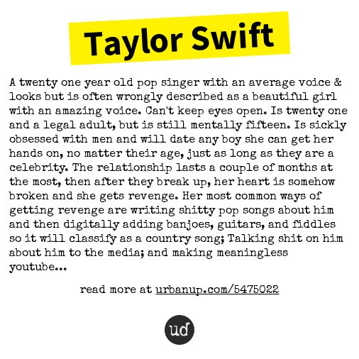 urban dictionary on twitter taylor swift a twenty one year old