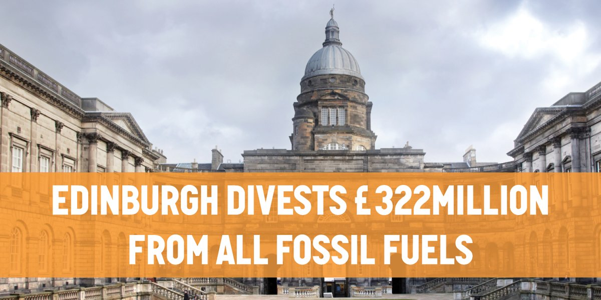 Holy heck! Edinburgh Univ.--where Joseph Black discovered carbon dioxide--divests from all fossil fuels!!  Such thanks to all who fought for this!