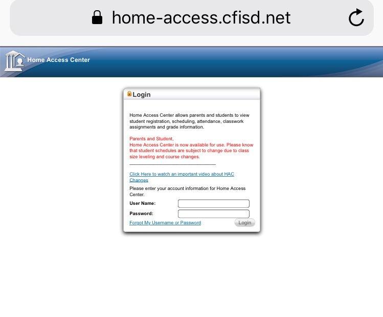 Fresh Cfisd Home Access