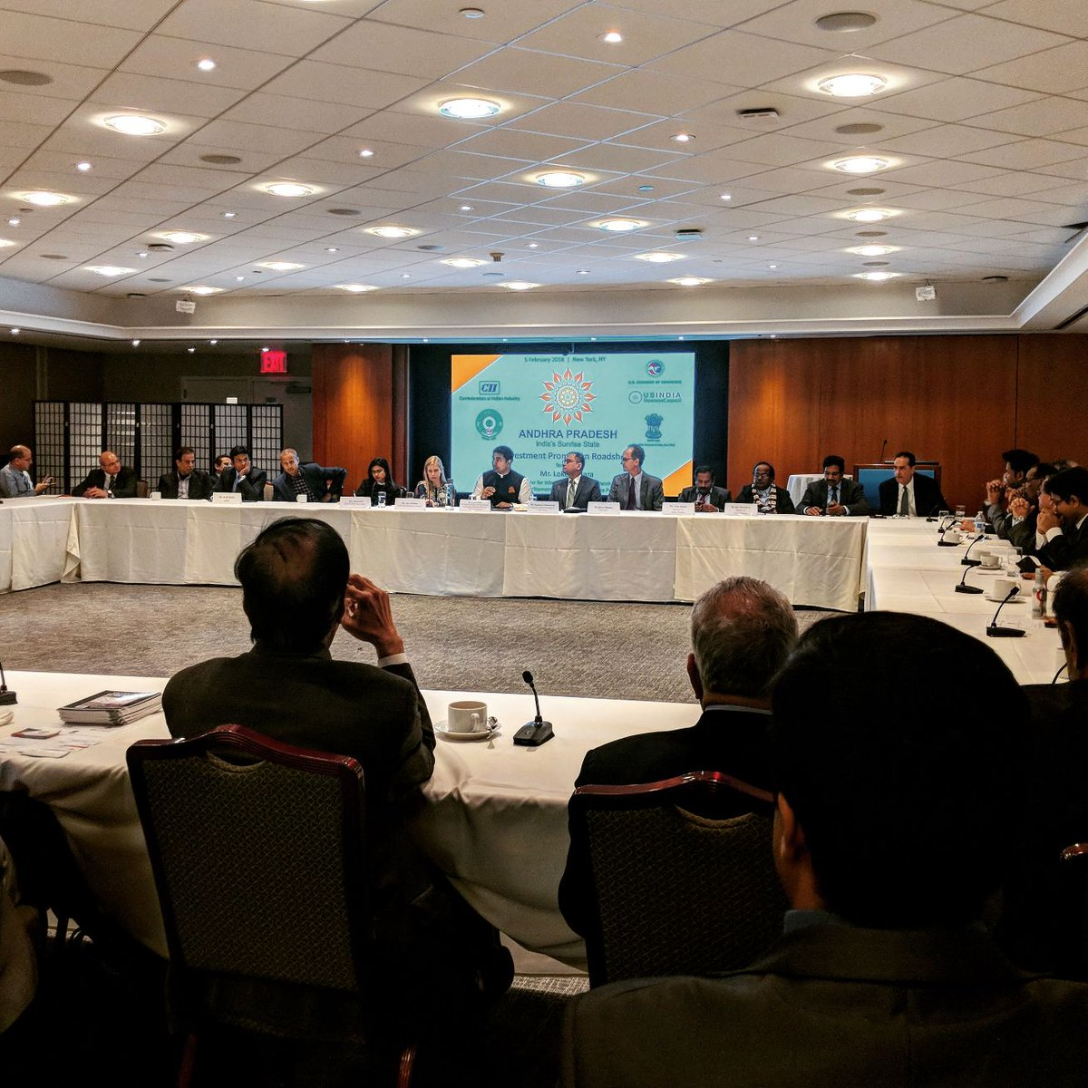 Confederation of indian industry on twitter andhra pradeshs andhra pradeshs minister of it rural development naralokesh addresses investors in new york at the cii usibc and indiainnewyork investment promotion publicscrutiny Gallery