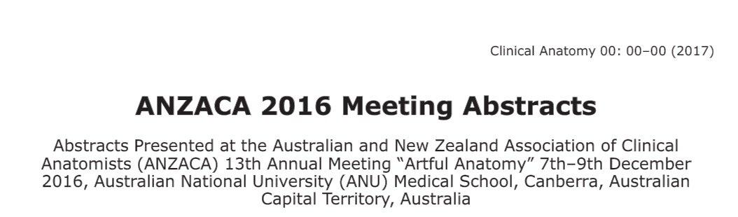 Australian Nz Association Of Clinical Anatomists On Twitter