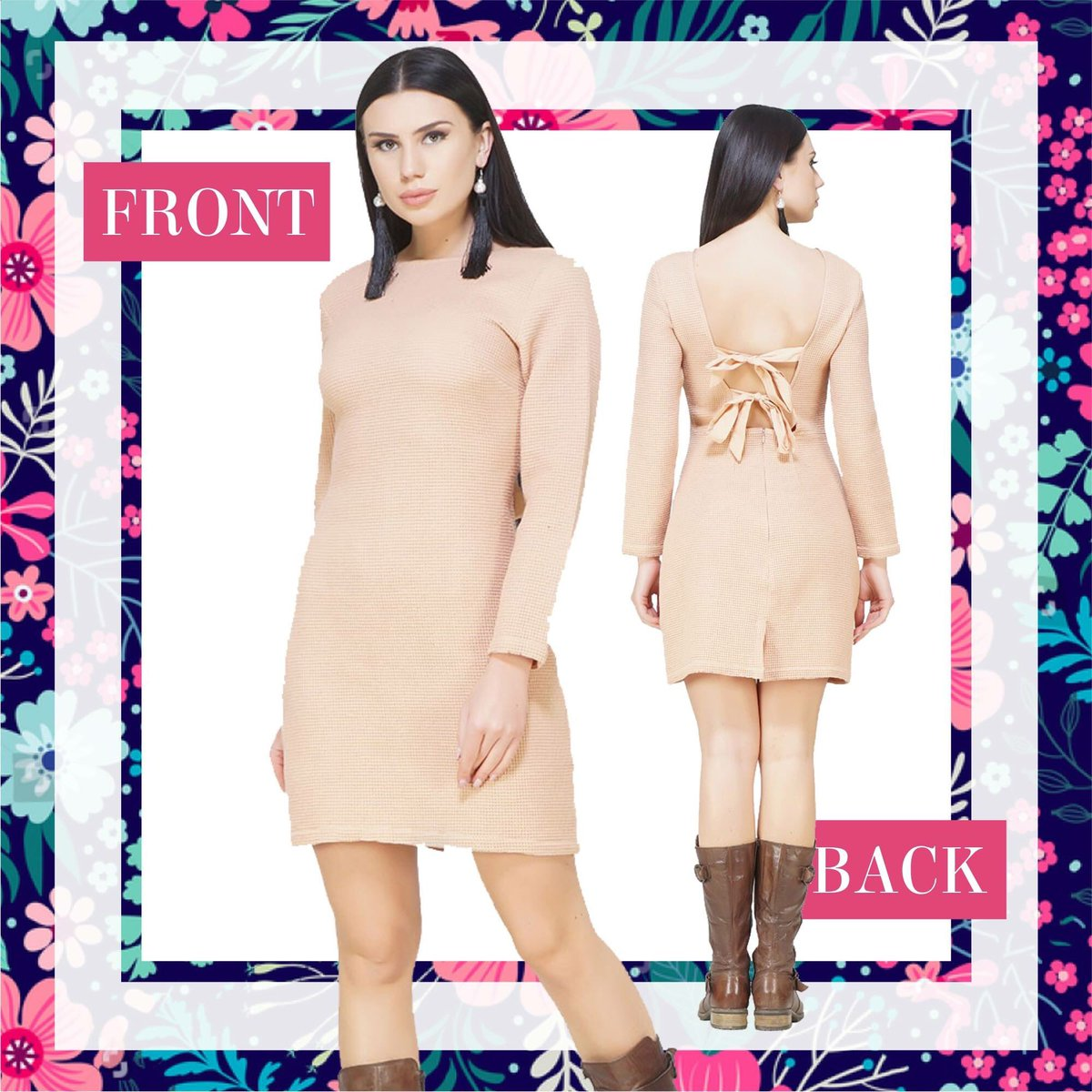 Are you date night ready? Tie Me A Knot Nude Dress. Shop now at http://www.sexyandbroke.com  #MiniDress #OOTD #SexyBack #DateNight #SexyitUp #Glam #Chic #Trending #CelebStyle #HotFashion #LatestFashion #SexyandBroke #OnlineShopping #LookAwesome