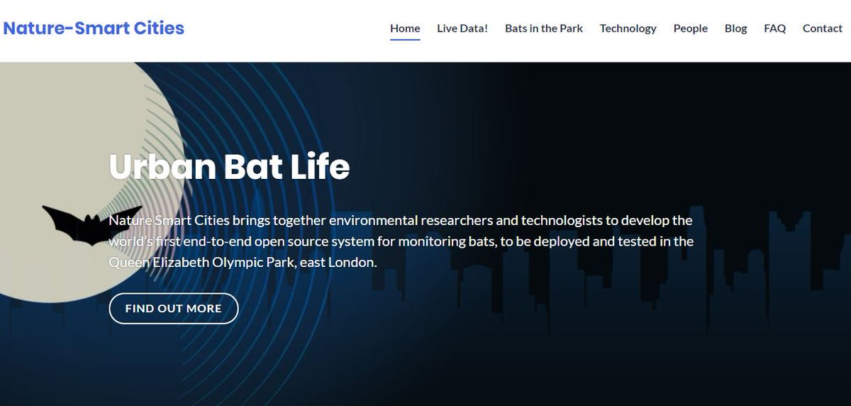 BatConservationTrust On Twitter Nature Smart Cities Brings Together Environmental Researchers And Technologists To Develop The Worlds First End