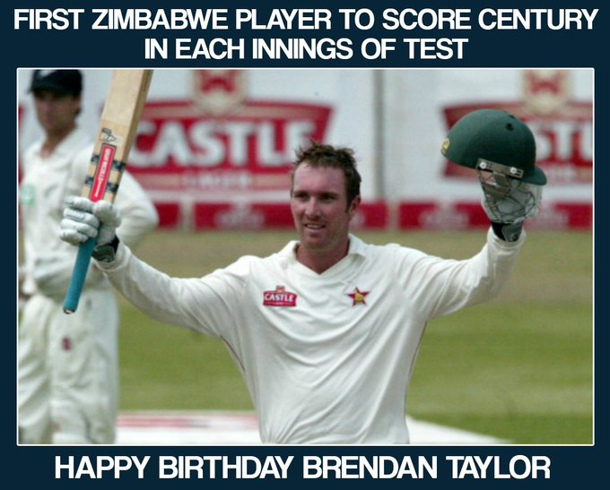 Former Zimbabwe\s skipper Brendan Taylor turns 31 today. Let\s wish him a very Happy Birthday.