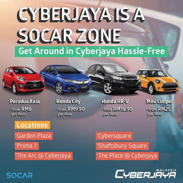 Cyberjaya Malaysia On Twitter Have You Tried Socar The App