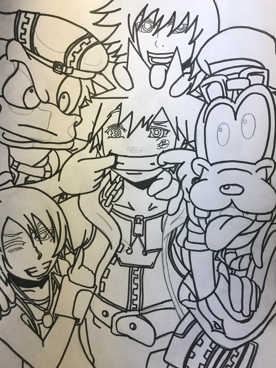 Kazearts On Twitter Working A New Kingdomhearts Drawing Hope You