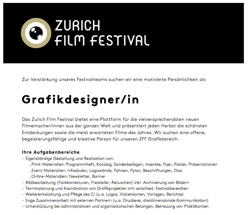 Zurich Film Festival On Twitter We Re Looking For A