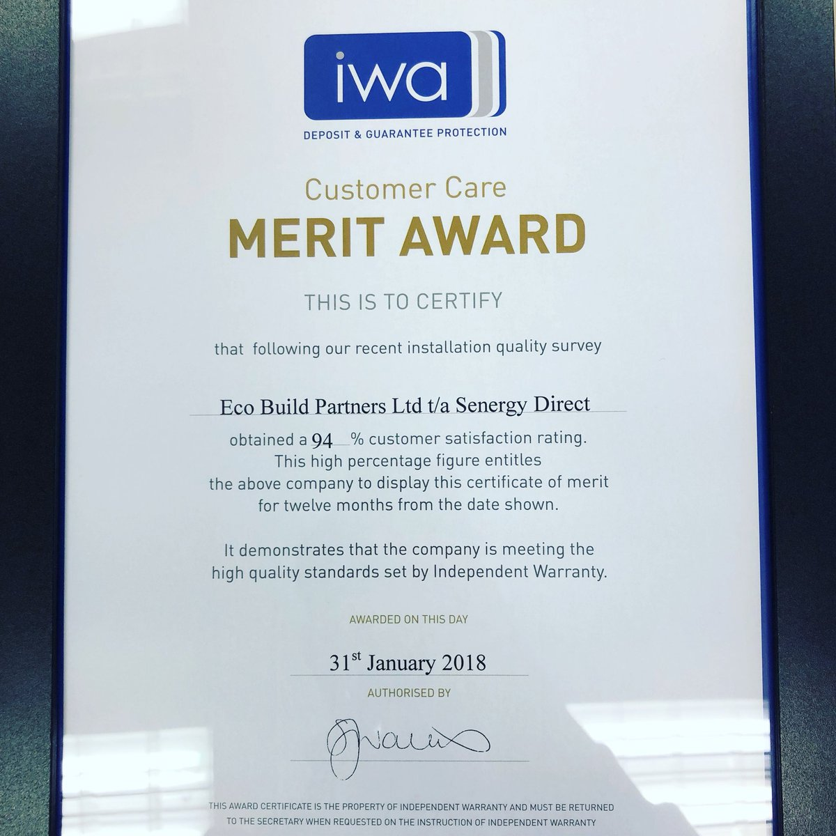 Senergy direct senergydirect twitter very proud to have received this award from iwa customer care is the heart of our business and we are continuously looking for ways to improve our xflitez Images