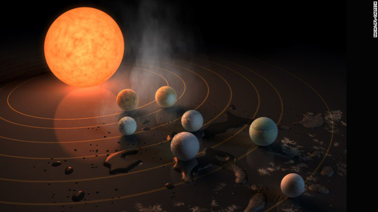 Potential for life is higher than ever on TRAPPIST exoplanets a year after discovery of the seven Earth-size planets orbiting a star 40 light-years from Earth was announced, researcher says https://t.co/DwZ8ALjn3Q