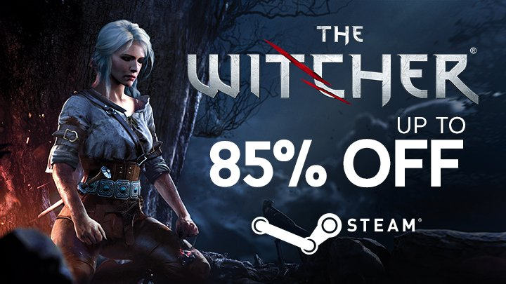 The Witcher: Up to 85% off on Steam